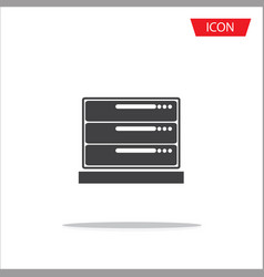 computer server icon server symbols vector image