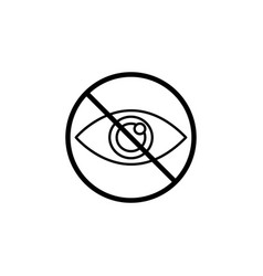 do not spy line icon prohibition sign forbidden vector image
