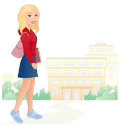Girl student vector