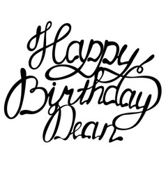 Happy birthday dean name lettering vector