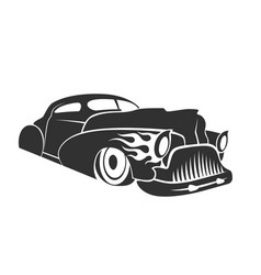 Hot rod low rider coupe vector