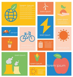Icon Ecology nature conservation vector image
