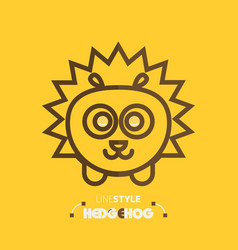 line style hedgehog vector image vector image