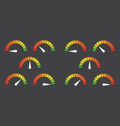 Meter signs infographic gauge element vector