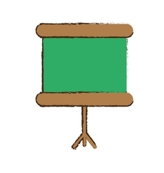 Mobile chalkboard icon image vector