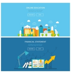 Mobile education online training courses vector
