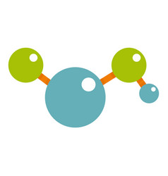 molecules icon isolated vector image vector image
