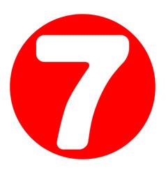 number 7 sign design template element vector image