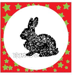 rabbit black 8-bit dog standing vector image