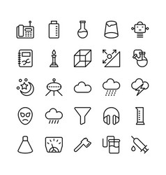 Science and technology line icons 17 vector