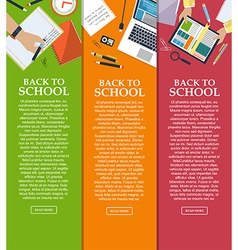 Set of banners back to school with place for your vector
