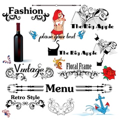 Vintage Designs vector image vector image