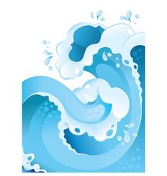Water splash background vector image vector image