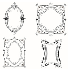 Set of abstract vintage frames vector image