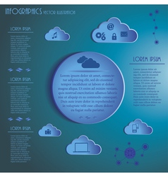 Weather clouds infographics vector