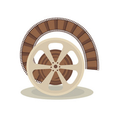 Bobbin with film vector
