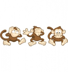 monkey cartoons vector image