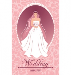 bride with a bouquet vector image