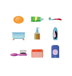 Bathroom and hygiene icon vector