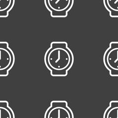 Watches icon sign seamless pattern on a gray vector