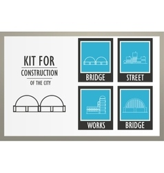 Set elements of the urban landscape vector