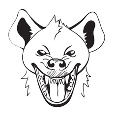 Laughing hyena vector