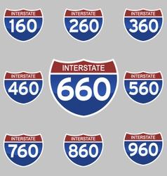 Interstate signs 160-960 vector