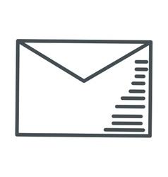 Envelope line icon vector