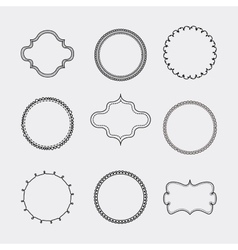 Set of label and decoration icon hand draw design vector