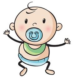 a baby vector image vector image