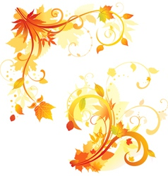 Autumn Floral design elements vector image vector image