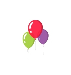 Balloons isolated on white background vector