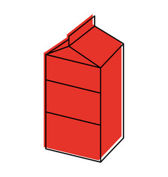 Blank label milk carton icon image vector