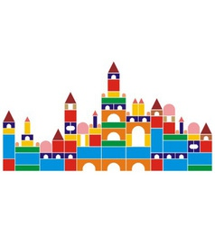 Castle of baby cubes vector image vector image