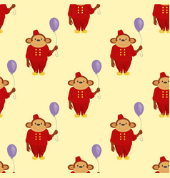 circus cartoon monkey character animal wild zoo vector image vector image