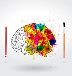 Creativity brain vector image vector image