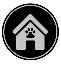 Doghouse black coin vector