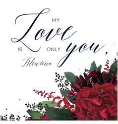 Floral greeting valentines day lovely card design vector