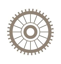 Light brown silhouette gear wheel vector