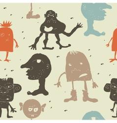 Monster wallpaper vector image vector image