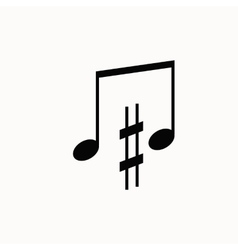 Music note isotated icon vector image