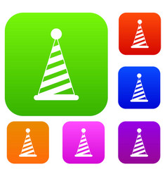 party hat set collection vector image vector image