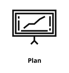 plan thin line icon vector image