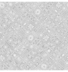 Seamless patchwork pattern from moroccan tiles and vector image