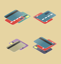 Set of plastic cards vector