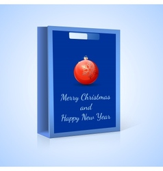 Shopping bag Christmas vector image