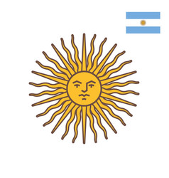 Symbol of argentina - sun of may vector