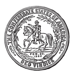 The seal of the confederate states vintage vector