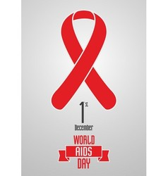 World Aids Day 1st December design concept with vector image vector image