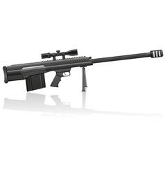 sniper rifle 01 vector image